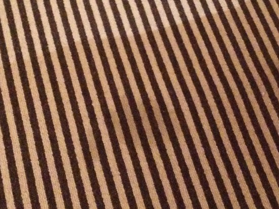 Rye Lodge Hotel: Stain on carpet ... Not acceptable for any stars