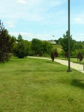 Washburn, ND: On the walk from the Interpretive center