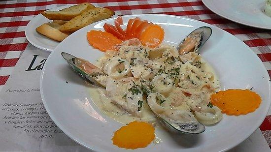Restaurante La Finca: Fetuccini en Salsa Alfredo