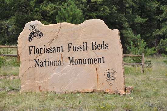 Florissant, CO: Entry to the National Monument.