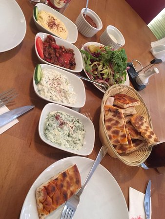 Ilford, UK: Cold and warm meze were good, here is a picture of our Adana kebabs that were off!