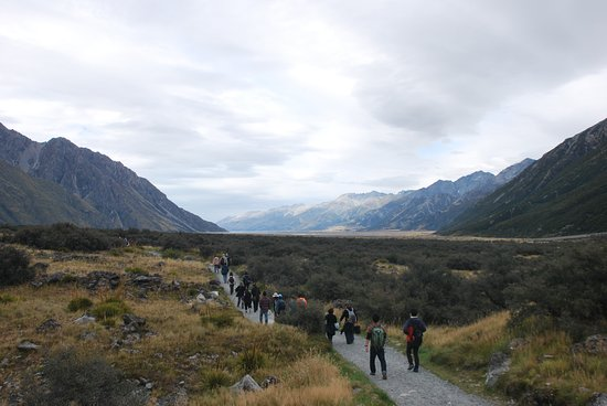 Mt. Cook Village, New Zealand: Fußweg