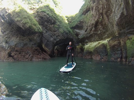 Berrynarbor, UK : Through the Cave at Watermouth Cove