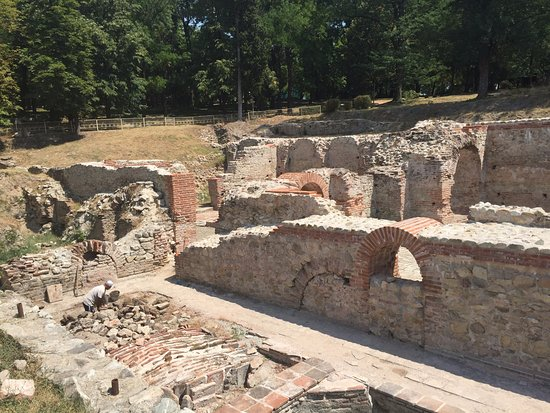 Hissarya, Bulgaria: Ruins in the park, centre of town.