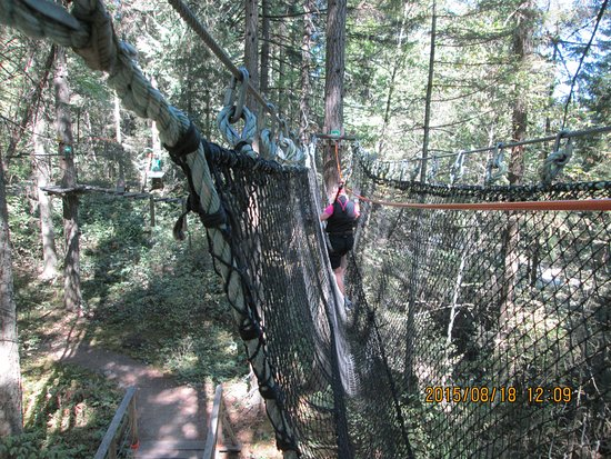 Wild play Nanaimo weird net climb..harder than it looks.
