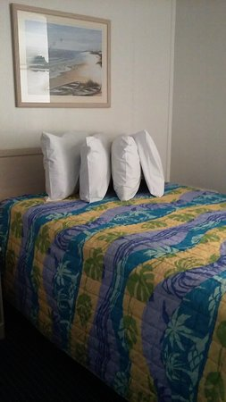 Thunderbird Beach Motel: The beds, we had 2 this is what they look like. Loved having extra pillows. Slept great!