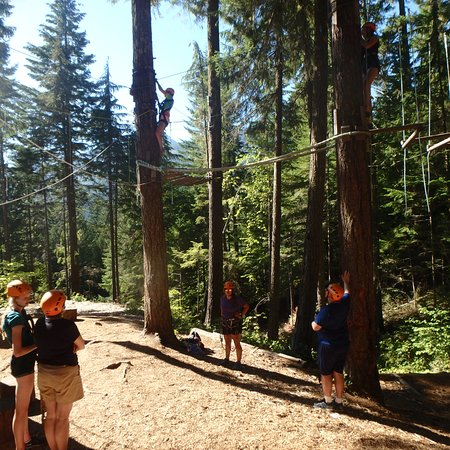 ‪‪Strathcona Park Lodge & Outdoor Education Centre‬: High Ropes Course‬