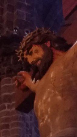 Zamora de Hidalgo, México: Detalle de la imagen de Cristo crucificado