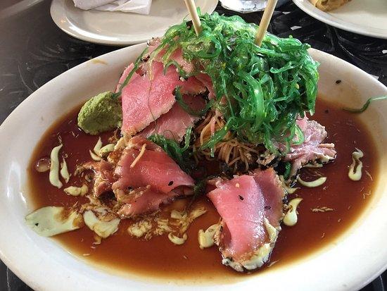 Coral Bay, St. John: Ponzu tuna. Best tuna I've ever had. 5star dinner