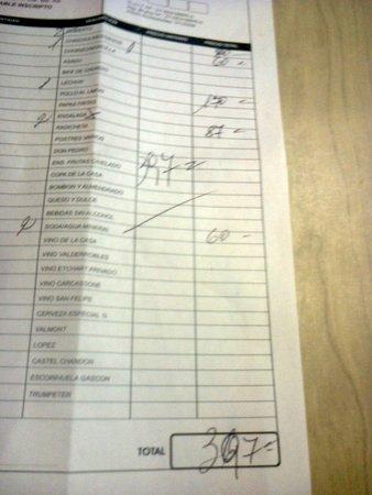 Parrilla Perales: $ 397
