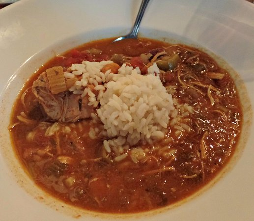 Menominee, MI: Gumbo with chicken, shrimp and andouille sausage