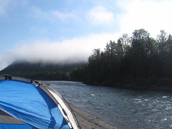 Bonaventure, Kanada: Le lendemain matin, une brume sur la Cime des montagne