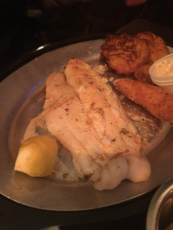 Elkhorn, WI: Fish fry baked Cod Grasshopper and the check
