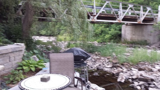 Prince Edward County, Canada: The private patio is the perfect place to while away hours