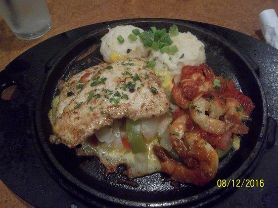 TGI Friday's: Chicken and shrimp 17.99