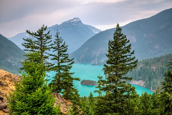 North Cascades National Park, WA: A Striking View from Diablo Lake Overlook