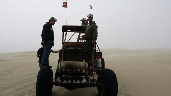 "Florence, OR: Boys we saw ""playing"" on our sand dune tour"