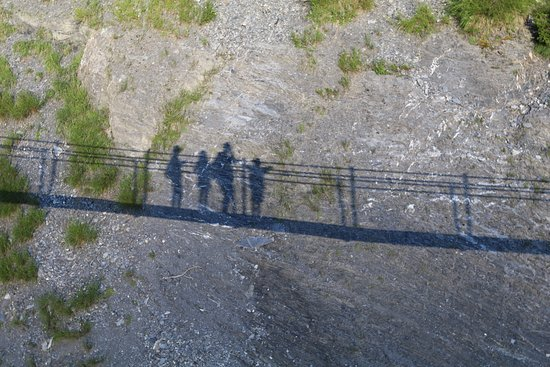 Chandolin, สวิตเซอร์แลนด์: ombre de la passerelle