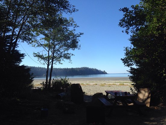 Pachena Bay Campground: View from our campsite