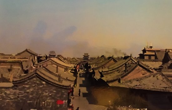 Pingyao County, Chine : Scene of Pingyao from drum tower