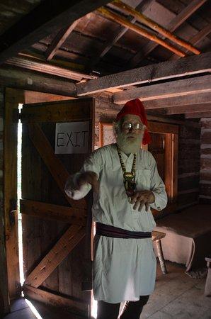 Nekoosa, WI: A Voyageur in his cabin