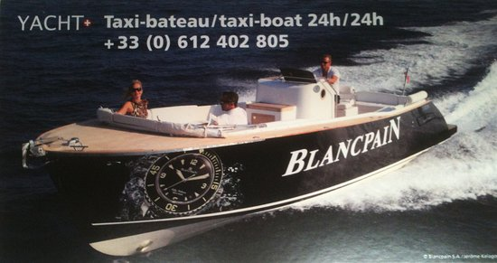 Port Grimaud, France: Taxi boat BLANCPAIN. Also hourly or daily rental