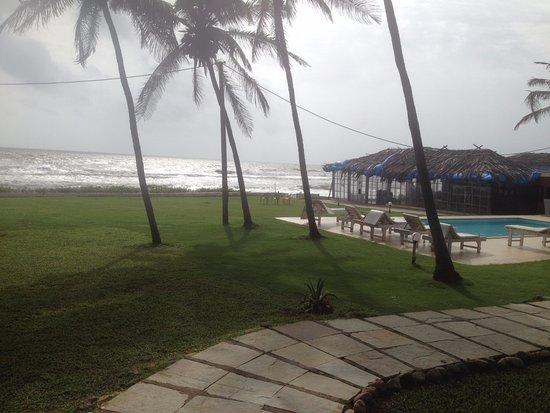 Ashvem Beach, India: Nice View of the Beach Side Restaurant & Pool