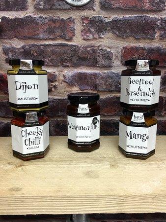 Bagshot, UK: We Stock & use Handmade Chutneys, Relish & Mustards By Hawkshead Relish