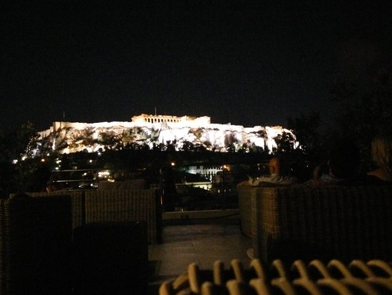 Hermes Hotel: Panorama from the roof-bar of the twin hotel (Plaka hotel)