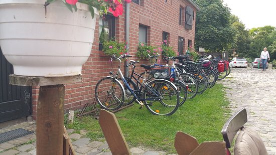 Trebbin, Alemania: Fahrradparkplatz