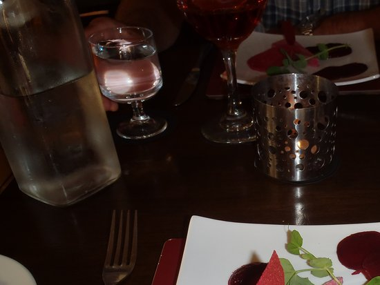 Wark, UK: Semi Freddo and carpaccio of beetroot