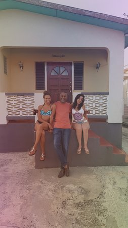 Christchurch, Barbados: Sitting on the porch of Rihanna's old house with Carson