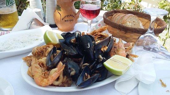 Boukari, Greece: микс из морепродуктов
