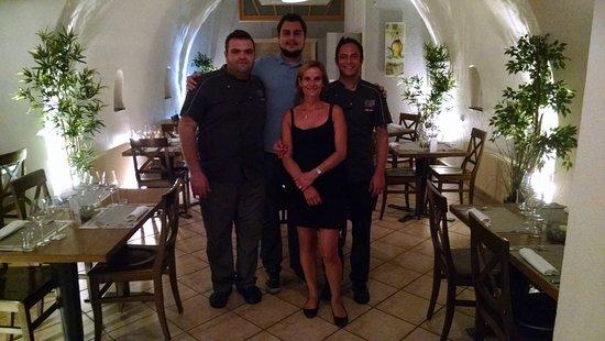 Saint-Maurice, Suiza: Me and the team of L'Ecu du Valais!!!