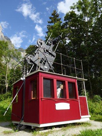 Grindelwald Museum: reconstitution de la cabine du premier téléphérique au monde