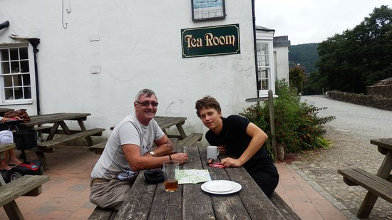 Tavistock, UK: Sampling the real ale with Eddie