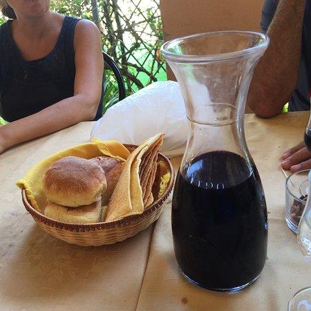 Arzana, İtalya: Piccolo pranzo con vista mare a base di un antipasto fantastico, culurgiones ai funghi, timo, as