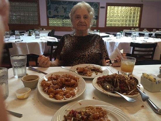Revere, MA: Grandma enjoying herself at Billy T's