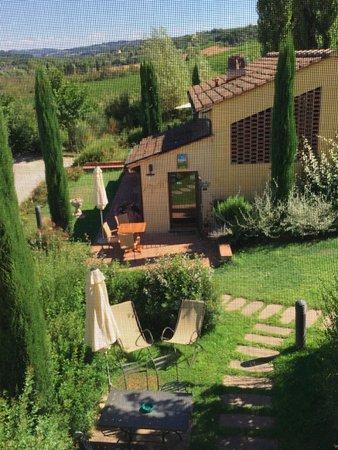 Montespertoli, İtalya: La reception vista dall'alloggio