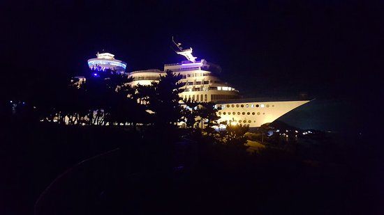 Donghae, Korea Selatan: Sun Cruise Resort At Night