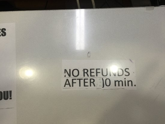 Travelers Inn: If the front desk has a sign saying no refunds after 10 minutes  RUN!