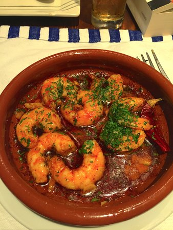 El tangerino prawns in tomato garlic and butter marvellous