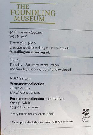 The Foundling Museum Admission charges