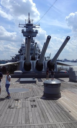 Camden, NJ: Looking aft from the bow