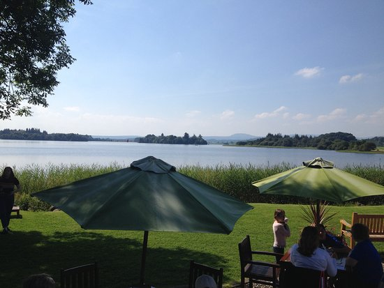Port of Menteith, UK: View from restaurant