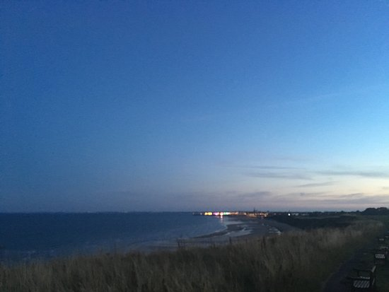 The Ship Inn Sewerby: the view over Bridlington from the clifftops