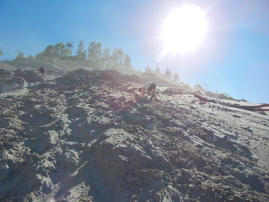 Grand Marais, MI: Winds off of Lake Superior blew the sand around adding to the challenge!