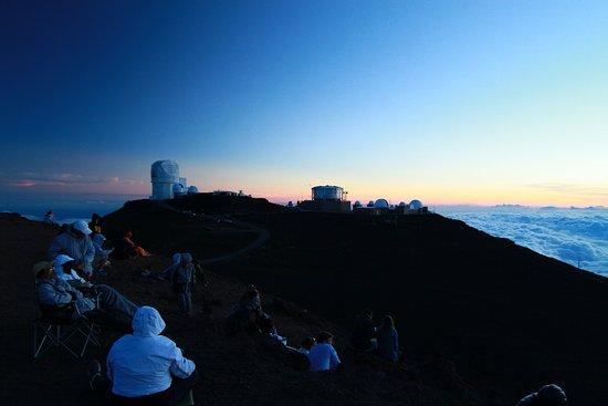 Makawao, Havaí: Watching the sunset