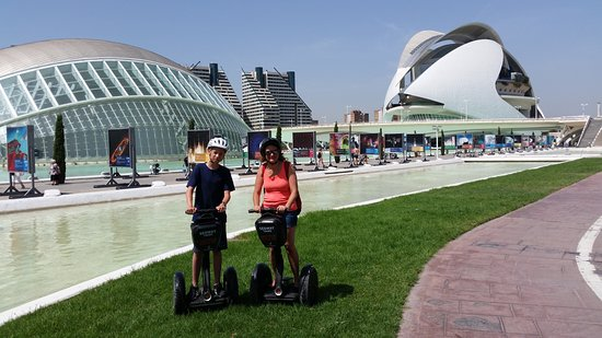 Segway Valencia Castellon Tour: My son and I at the City of Arts and Sciences