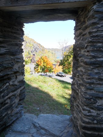 Harpers Ferry, Virgínia Ocidental: view from the remnants of an old church